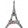 O πύργος του Άϊφελ με λέξεις, Αυτοκόλλητο τοίχου