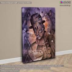 Steampunk Man, πίνακας σε καμβά κάθετος
