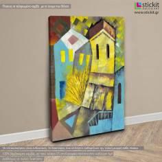 Cubistic city, πίνακας σε καμβά