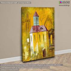 Cubistic city ΙΙ, πίνακας σε καμβά κάθετος