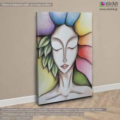 Godess of spring, πίνακας σε καμβά κάθετος