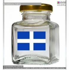 Ελληνική σημαία (σταυρός), αυτοκόλλητη