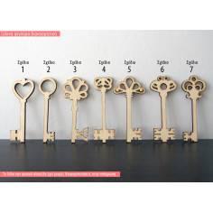 Κλειδί, ξύλινη φιγούρα διακοσμητική