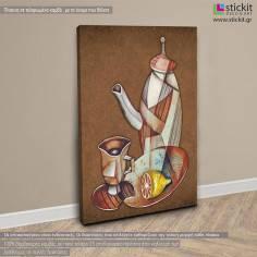 Tea Still-life, πίνακας σε καμβά κάθετος