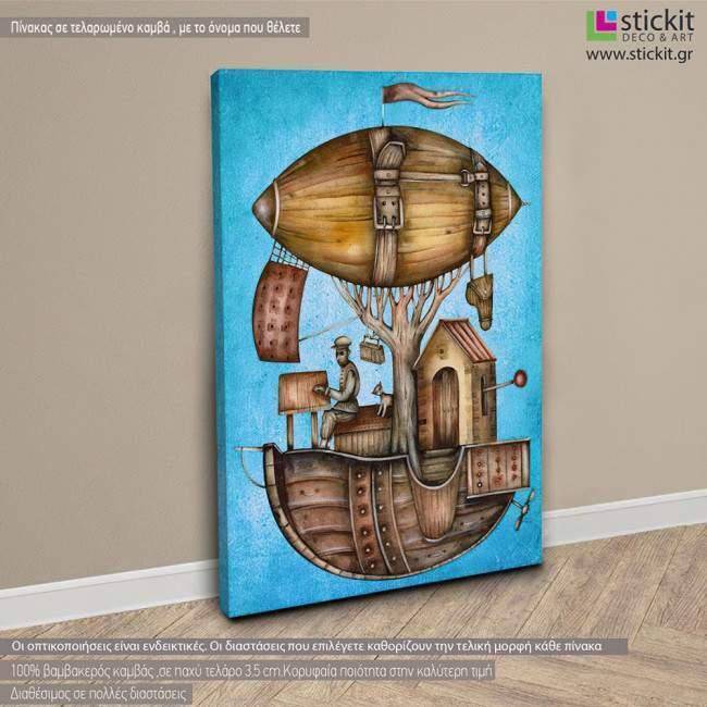 Dirigible balloon, πίνακας σε καμβά