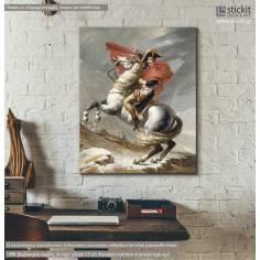 Νapoleon Βonaparte on horse, αντίγραφο - αναπαραγωγή πίνακα σε καμβά