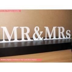 Mr and Mrs , plexiglass διακοσμητική πινακίδα