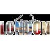 London, Montage,αυτοκόλλητο τοίχου με θέμα το Λονδίνο