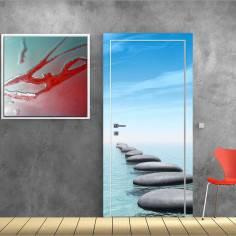 Πέτρινο μονοπάτι στην θάλασσα, αυτοκόλλητο πόρτας