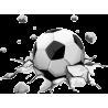 Δυναμική μπάλα ποδοσφαίρου, αυτοκόλλητο τοίχου , κοντινό