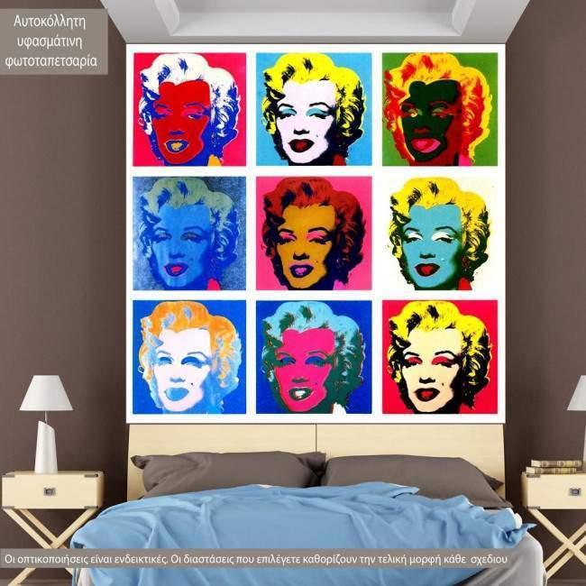 Marilyn Monroe Pop Art, φωτογραφική ταπετσαρία