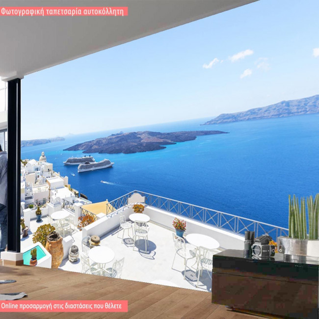 Santorini, φωτογραφική ταπετσαρία