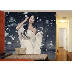 Όμορφη γυναίκα, ταπετσαρία τοίχου φωτογραφική
