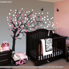 Elegant cherry blossom tree, αυτοκόλλητο τοίχου 180 cm