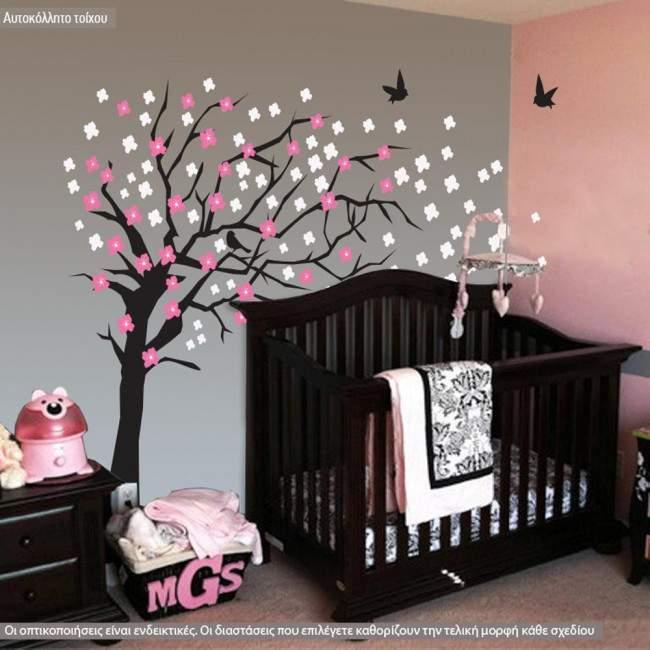 Elegant cherry blossom tree , αυτοκόλλητο τοίχου 180 cm