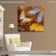 Butterfly I artistic, τετράγωνος πίνακας σε καμβά