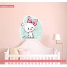 Ναζιάρικο γατάκι, αυτοκόλλητο τοίχου παιδικό με ζωάκι