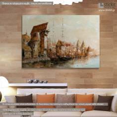 Old port, πίνακας σε καμβά