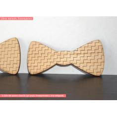 Παπιγιόν waves, ξύλινο σχέδιο διακοσμητικό