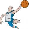 Μπασκετ κάρφωμα 3 Αυτοκόλλητο τοίχου