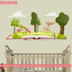 Αυτοκόλλητα τοίχου παιδικά, Η Χελώνα και ο Λαγός