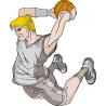 Μπασκετ κάρφωμα 4 Αυτοκόλλητο τοίχου , κοντινό