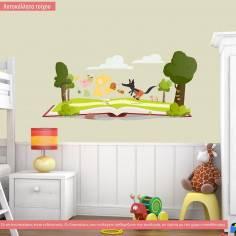 Αυτοκόλλητα τοίχου παιδικά, Τα Τρία Γουρουνάκια