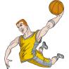 Μπασκετ κάρφωμα 6 Αυτοκόλλητο τοίχου , κοντινό