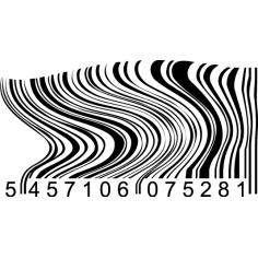 Barcode curved, Αυτοκόλλητο τοίχου