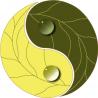 Γιν και Γιάνγκ, γήινο Αυτοκόλλητο τοίχου , κοντινό