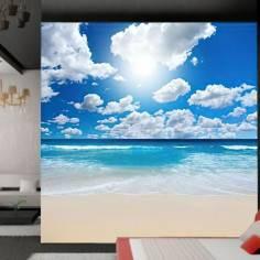 Υπέροχο τοπίο στην παραλία, ταπετσαρία τοίχου φωτογραφική