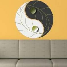 Αυτοκόλλητο τοίχου, Γιν και Γιανγκ, γκρι