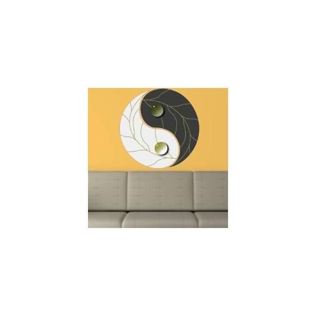 Γιν και Γιάνγκ , gray Αυτοκόλλητο τοίχου