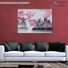 Spring Japanese scenery, πίνακας σε καμβά