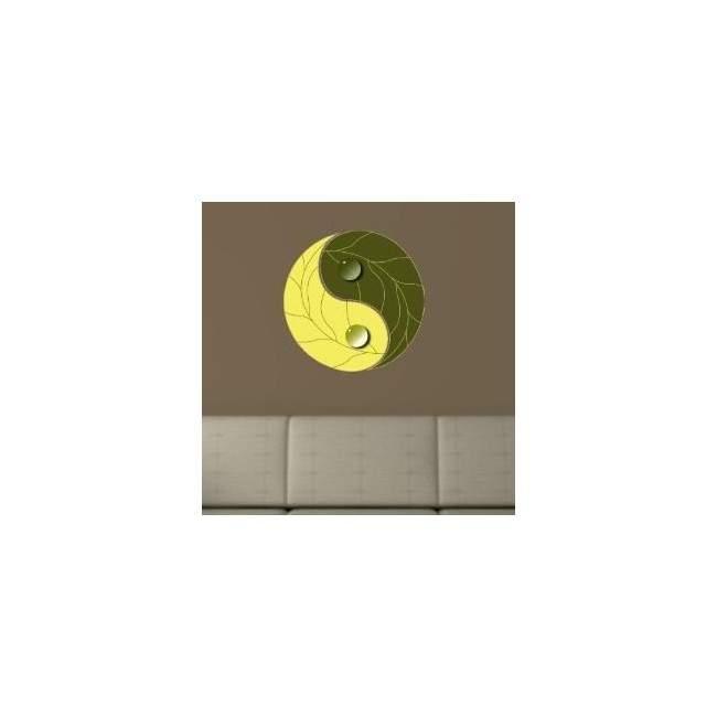 Γιν και Γιάνγκ, γήινο Αυτοκόλλητο τοίχου