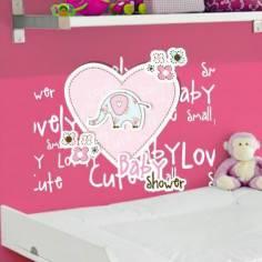 Ελεφαντάκι & καρδιά, Αυτοκόλλητο τοίχου