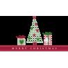 Χριστουγεννιάτικο σετ διακόσμησης , Αυτοκόλλητο τοίχου