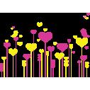 Πολύχρωμα Λουλούδια 2 | Αυτοκόλλητο τοίχου