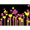 Πολύχρωμα Λουλούδια 2 | Αυτοκόλλητο τοίχου , κοντινό