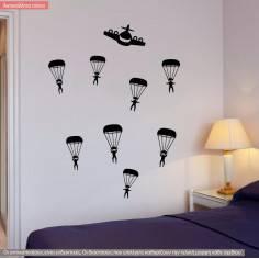 Parachuters, αυτοκόλλητο τοίχου