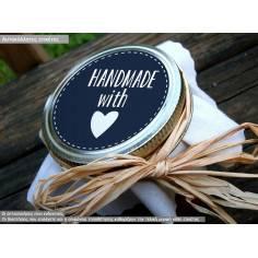 Hand made with love, αυτοκόλλητες ετικέτες