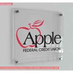 Πινακίδα plexiglass , στις διαστάσεις που θέλετε