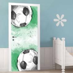 Αυτοκόλλητο πόρτας, Soccer time παιδικό