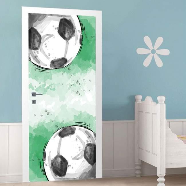Soccer time ,αυτοκόλλητο πόρτας παιδικό
