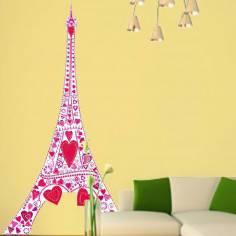 Ερωτας στον πύργο του Αιφελ Ροζ, Αυτοκόλλητο τοίχου