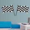 Σημαίες τερματισμού Αυτοκόλλητο τοίχου
