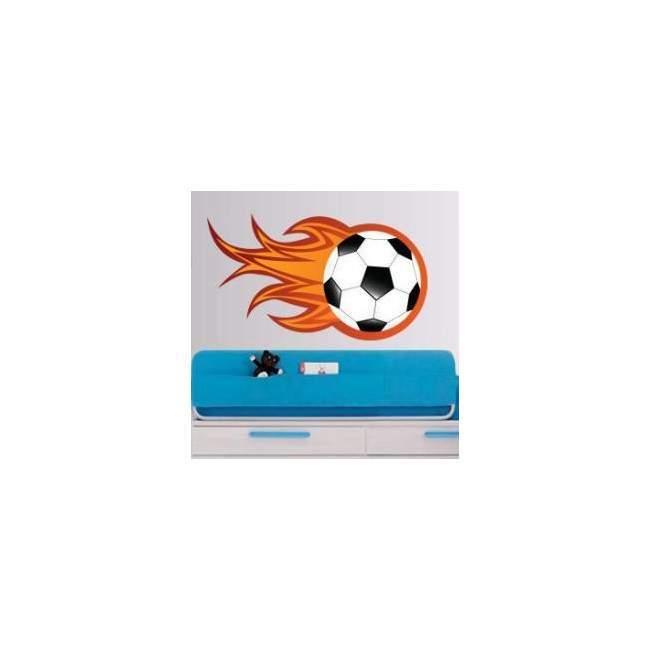 Φλεγόμενη Μπάλα Ποδοσφαίρου Αυτοκόλλητο τοίχου