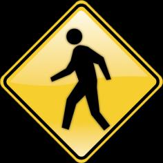 Πινακίδα Διάβαση Αυτοκόλλητο τοίχου