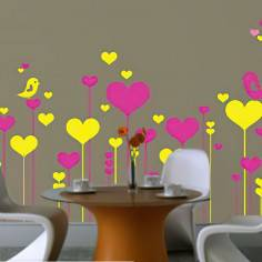 Πολύχρωμα Λουλούδια 2, αυτοκόλλητο τοίχου