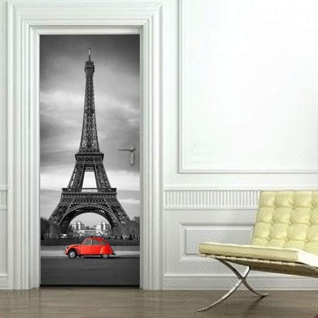 Πύργος του Eiffel Αυτοκόλλητο πόρτας, ντουλάπας